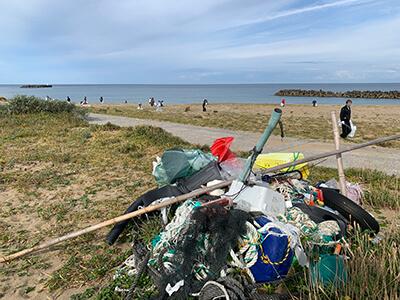 石川県の海洋ごみ 塩屋海岸